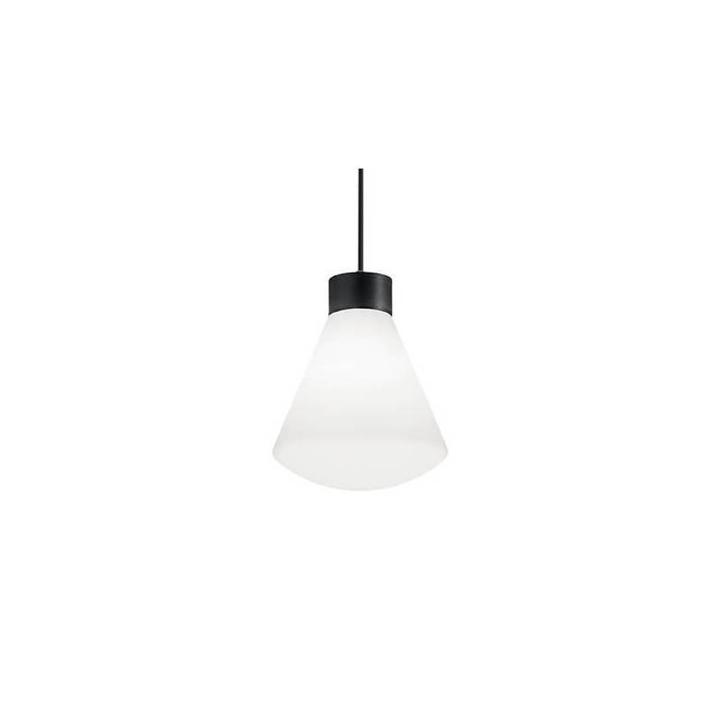 Suspension classique forme cone plastique blanc noir IP44 extérieur professionnel