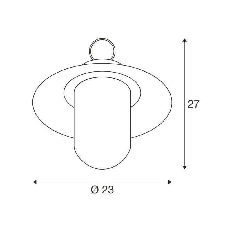 Suspension effet rétro chainette aluminium anthracite IP44 étanche professionnel