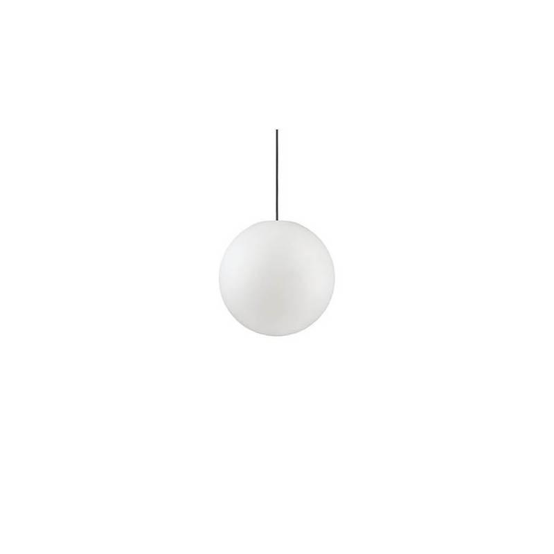 Suspension boule plastique guinguette blanc IP44 extérieur professionnel