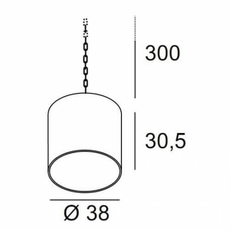 Suspension classique aluminium plastique anthracite IP44 étanche professionnel