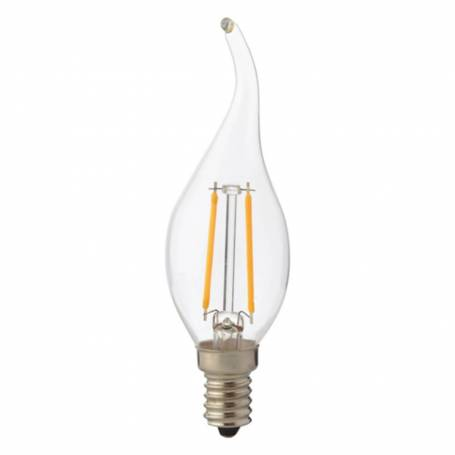 Ampoule led e14 filaments flamme 2W equivalent 25 w blanc chaud