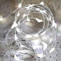 Guirlande gouttes d'eau micro led blanc froid 4m 16 animations