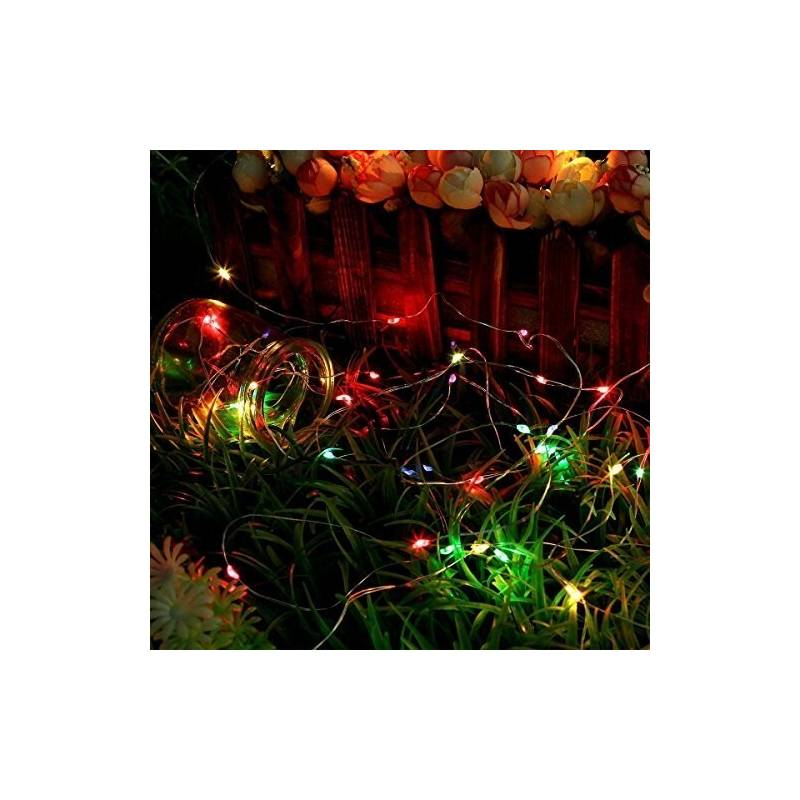 guirlande gouttes d'eau led micro multicolores 4m 16 animations