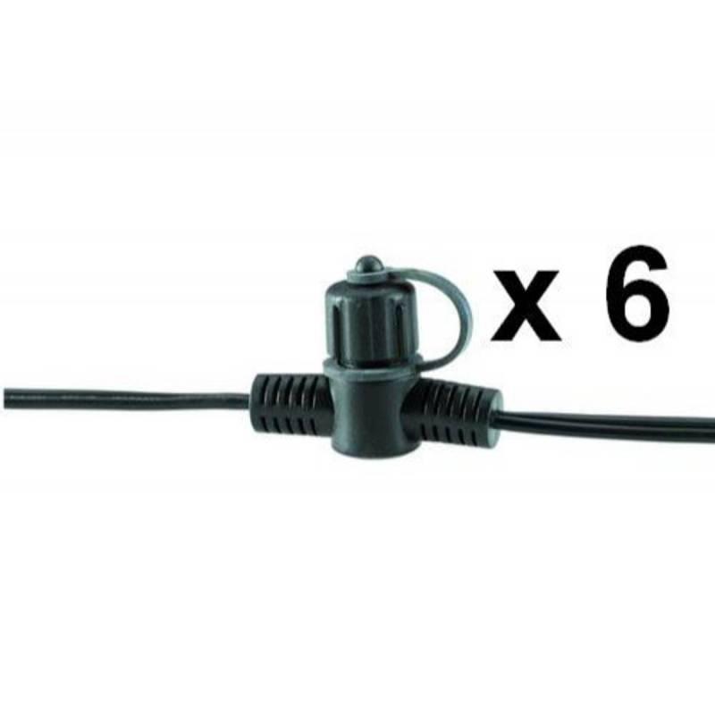 Câble principal extérieur 15M SPT-3 avec 6 connecteurs 12V IP44 Garden Professionnel