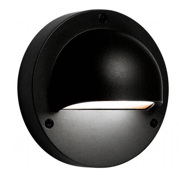 Applique murale LED extérieure noire 1W blanc chaud ou blanc froid IP44 Aluminium 12V Garden Pro professionnel