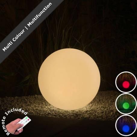 Boule lumineuse extérieur 40CM blanche 3 W LED RGB 12V IP44 Garden Pro professionnel