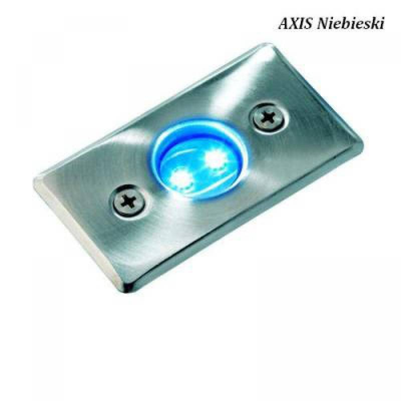 Spot encastrable LED 0,3W IP68 bleu rectangle Inox 316 12V Garden Pro professionnel