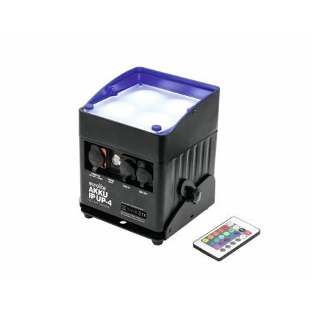 Projecteur rechargeable extérieur RGBW DMX 40W 4 faisceaux professionnel