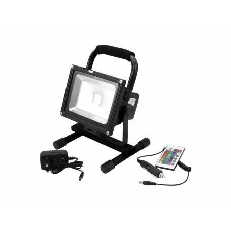 Projecteur rechargeable RGB sur pied 20W télécommande extérieur professionnel professionnel