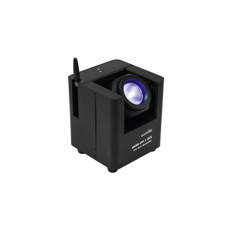 Projecteur LED rechargeable DMX tête orientable professionnel RGBW