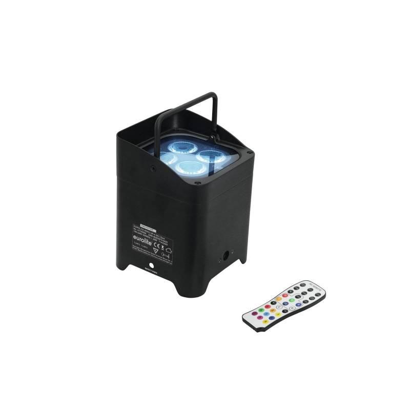 Projecteur LED rechargeable 45W professionnel RGBW DMX batterie