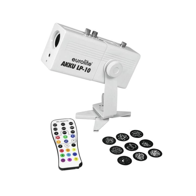 Projecteur image Gobo mini rechargeable 10w télécommande