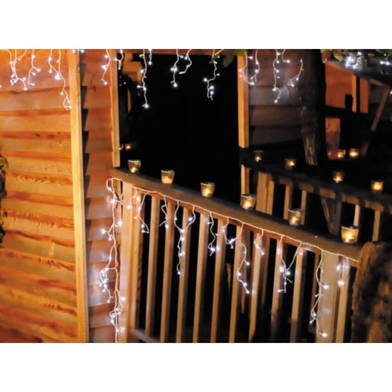 guirlande stalactite micro led blanc froid 2,5 M 16 programmes