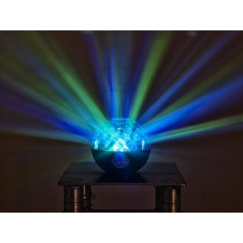 Lampe disco rechargeable haut-parleur multicolore MP3 radio professionnel