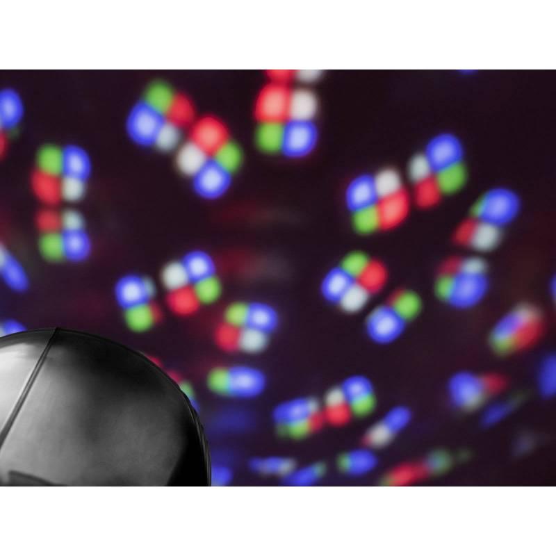 Projecteur rechargeable effet Kaléidoscope RGBW noir professionnel