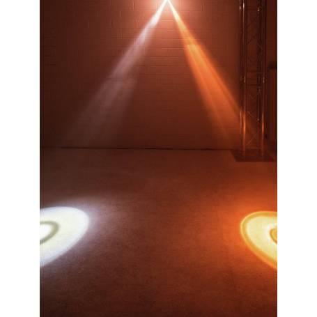 Projecteur rechargeable 5 faisceaux LED RGBWA noir professionnel