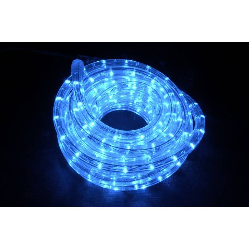 cordon lumineux led professionnel 30 mètres bleu