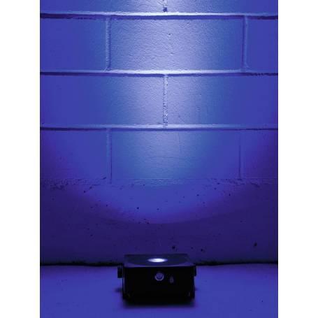 Projecteur rechargeable plat LED RGBW DMX 15W gris 1 faisceaux professionnel