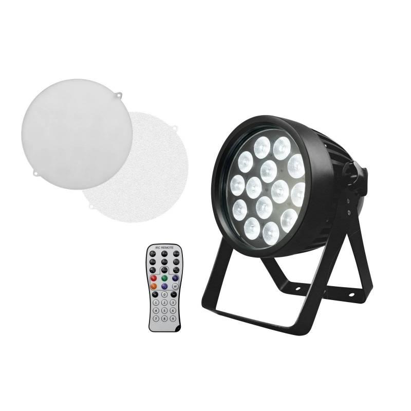 Projecteur LED PAR 90W extérieur RGBW 14x8W QCL avec télécommande professionnel
