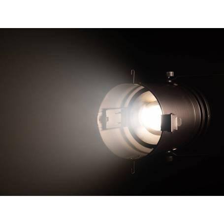 Projecteur LED PAR 64 blanc chaud 3000K 100W COB avec zoom manuel professionnel
