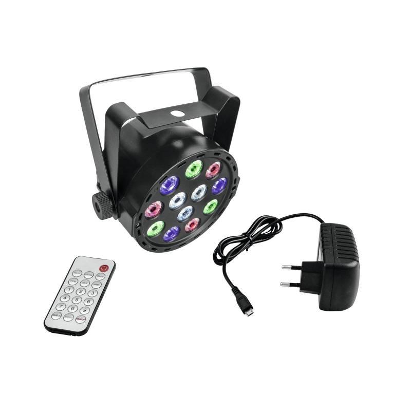 Projecteur PAR LED  RGBW 10W DMX RGBW avec télécommande professionnel