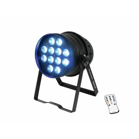 Projecteur LED PAR 64 HCL 125W DMX RGBAW avec télécommande fournie professionnel