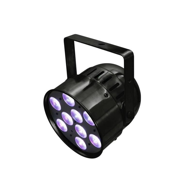 Projecteur PAR 56 HCL 9 LED RGBAW et UV avec télécommande IR professionnel