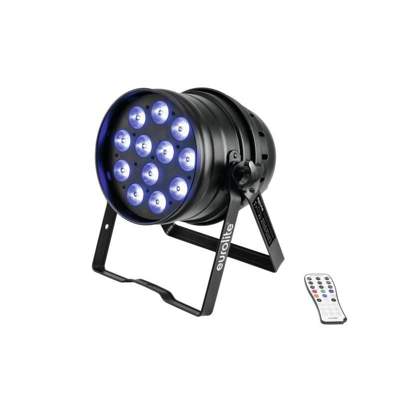 Projecteur PAR 64 70W 12 LED RGBW avec télécommande professionnel