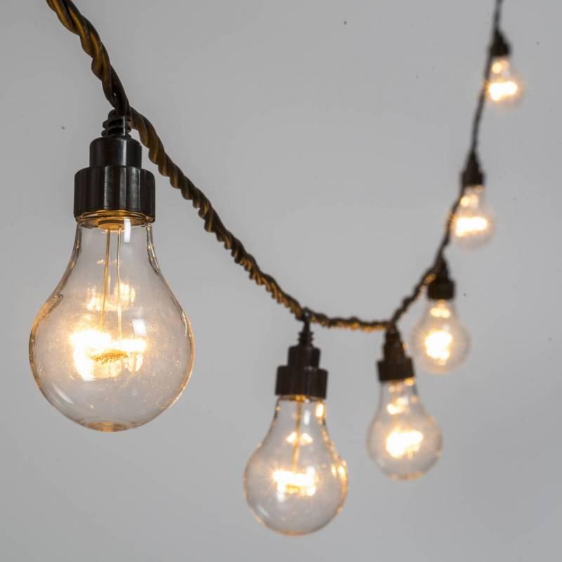Guirlande Guinguette 10M 20 ampoules transparente blanc chaud connectable