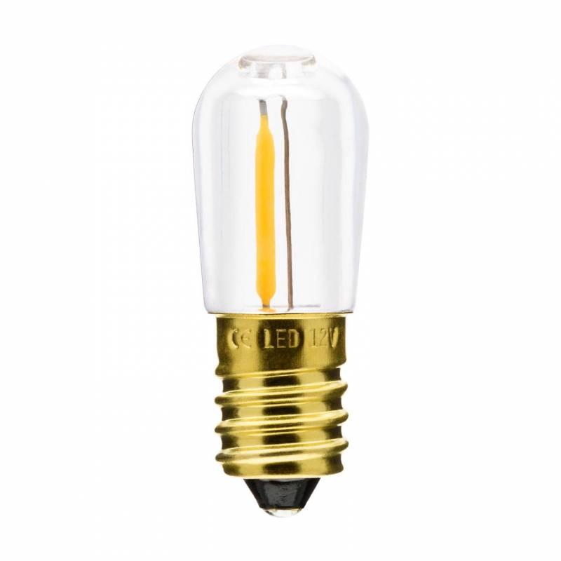 Lot de 20 ampoules E14 Guinguette filament 12V blanc chaud 0,15W