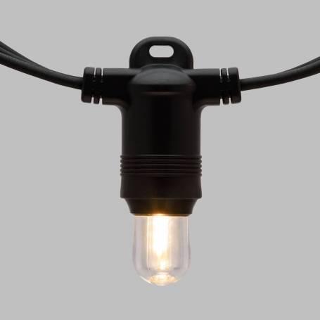 Lot de 20 ampoules E14 Guinguette filament 12V blanc chaud 0,15W professionnel