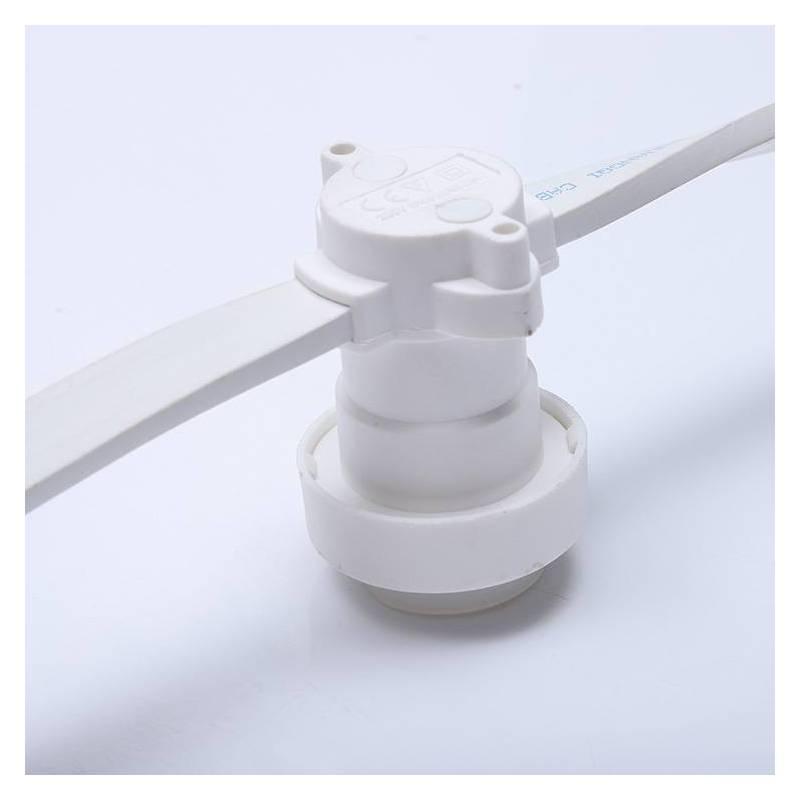 Guirlande Guinguette cable blanc 10m 20 douilles E27 connectable professionnelle professionnel