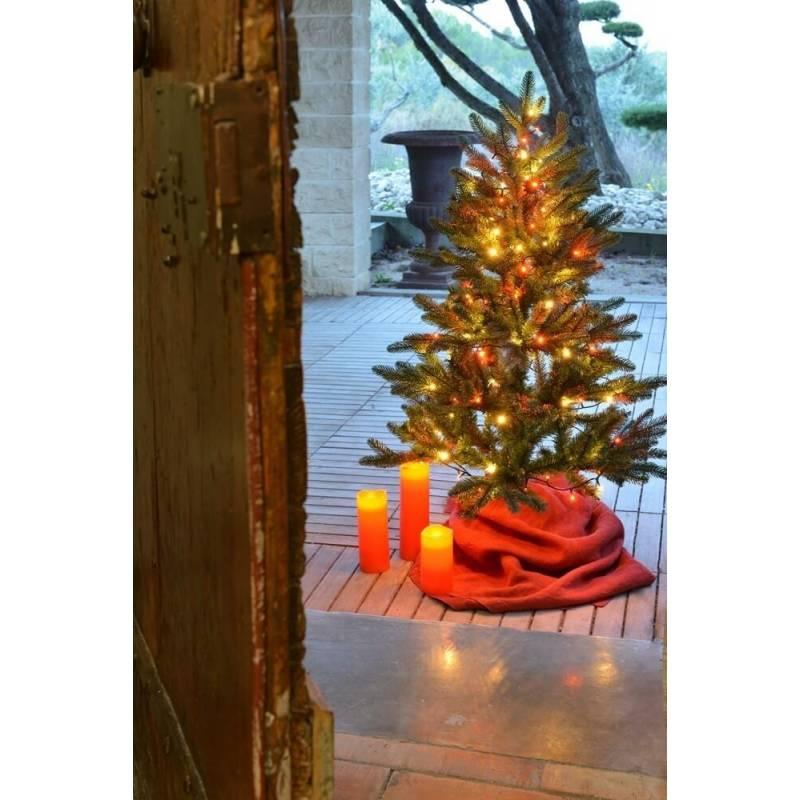 guirlande lumineuse 8m 128 led blanc chaud et oranges