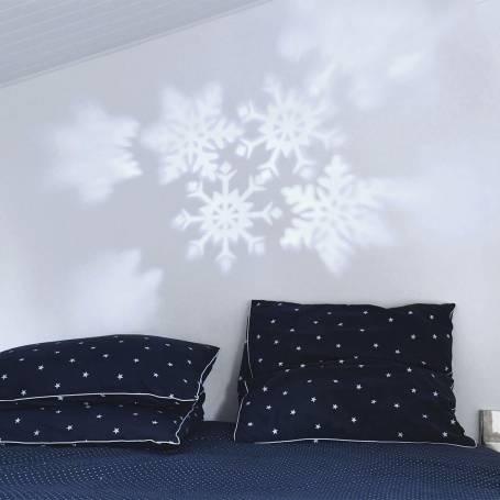 projecteur lumineux led flocon blanc animé