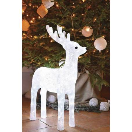 Renne lumineux 80 cm 120 led blanc froid