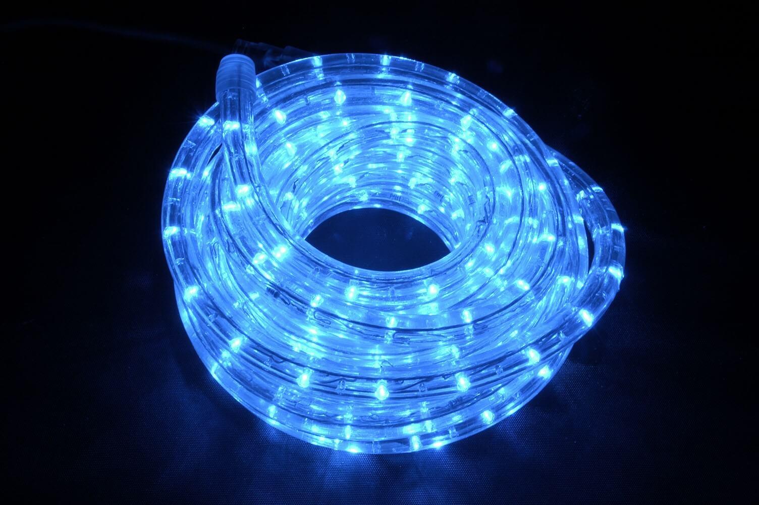 Cordon lumineux led 40m bleu professionnel ext rieur int rieur - Guirlande lumineuse exterieur professionnel ...