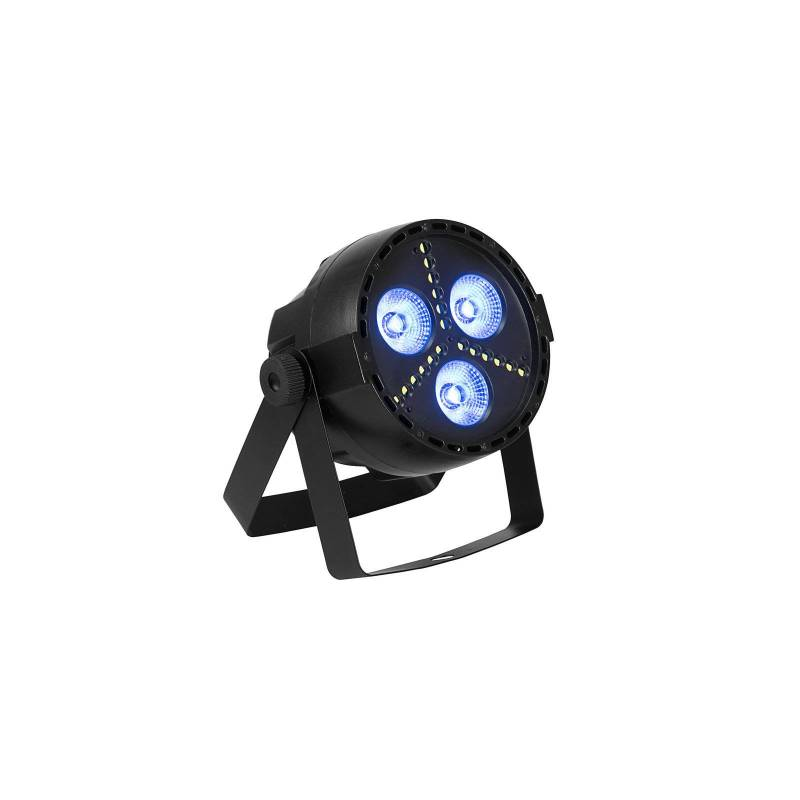 Projecteur de scène LED RGB DMX + stroboscopique 16W