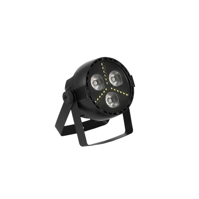 Projecteur de scène LED RGB DMX + stroboscopique 16W professionnel