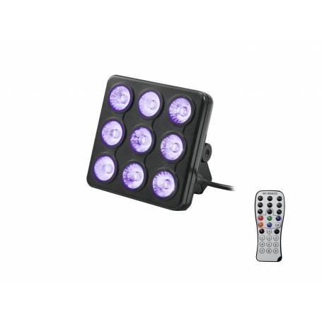 Projecteur scènique LED 13W RGB + UV avec télécommande professionnel