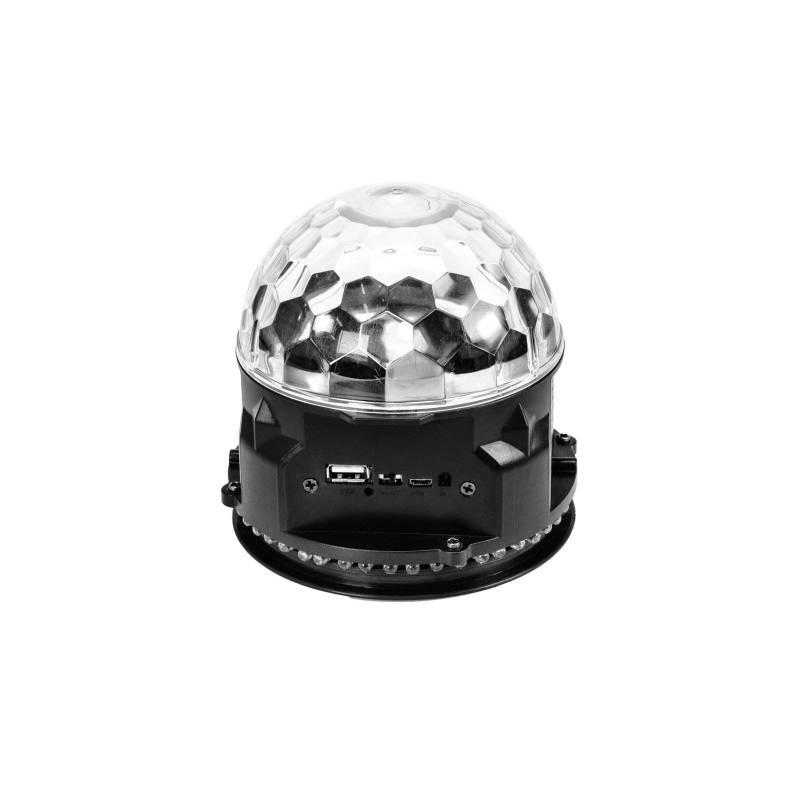 Lampe disco rechargeable enceinte bluetooth RGB 15W professionnel