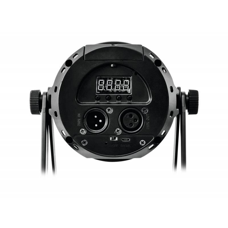 Projecteur scénique rechargeable RGBW DMX 12 LED télécommande professionnel