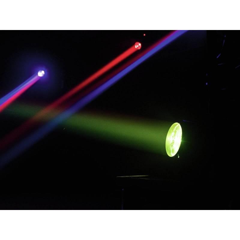 Projecteur scénique rechargeable 1 faisceaux RGBW 4W professionnel