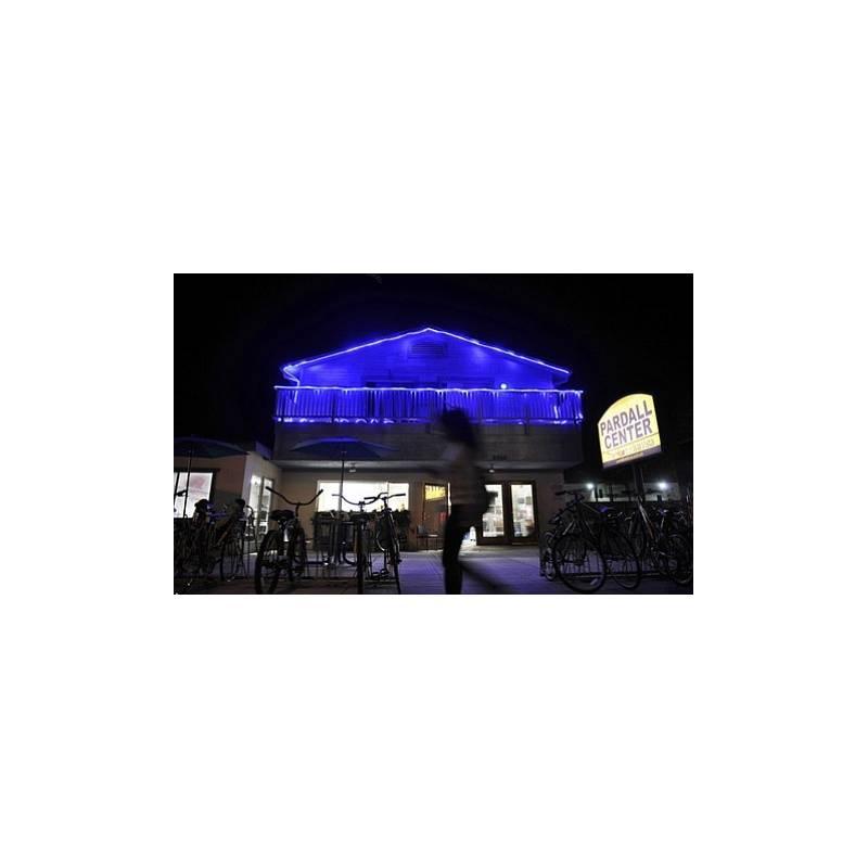 cordon lumineux led 40 mètres bleu pour vitrine boutique