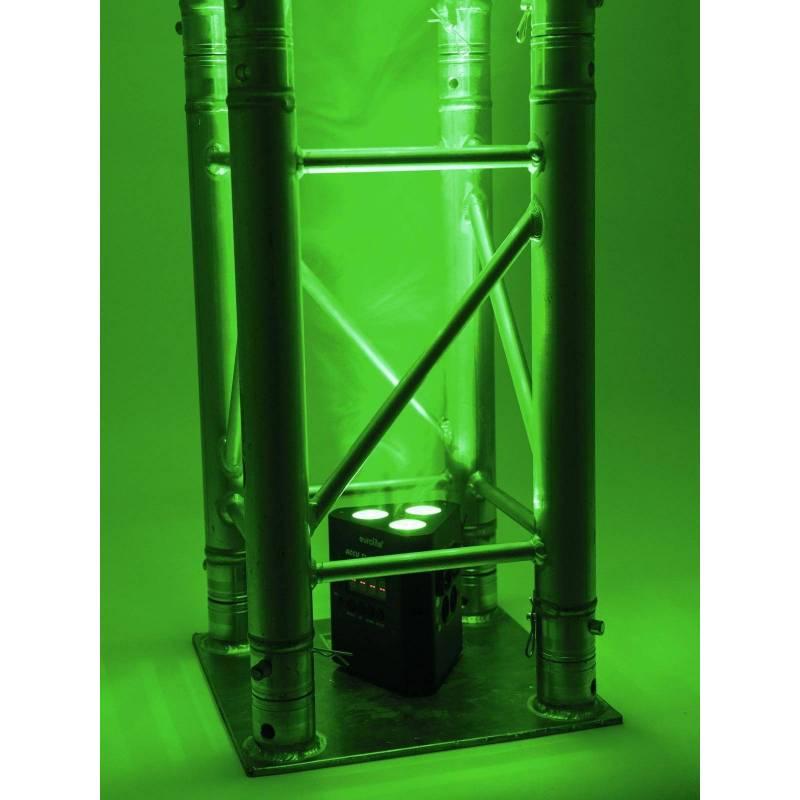 Projecteur rechargeable pour structure 3 LED RGB DMX 19W professionnel