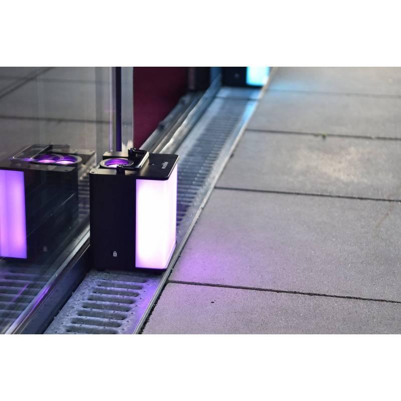Projecteur rechargeable lumineux fixe DMX RGBW 40W professionnel