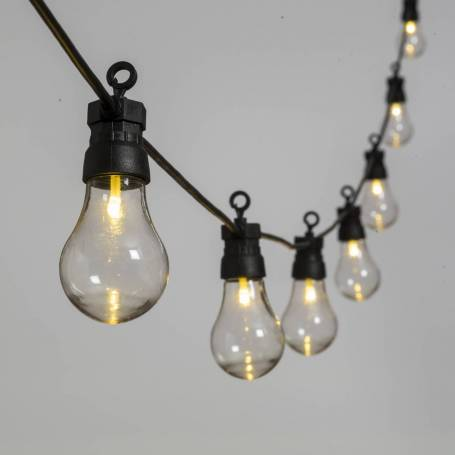 Guirlande Guinguette 12M 30 ampoules transparente blanc chaud chic