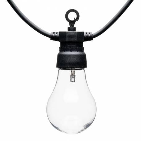 Guirlande Guinguette 12M 30 ampoules transparente blanc chaud chic professionnel