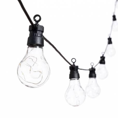 Guirlande Guinguette 5M 10 ampoules fil lumineux micro led connectable extérieur professionnel