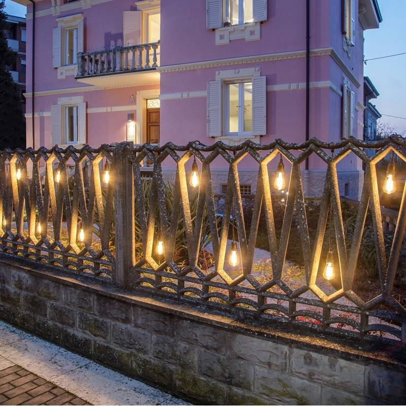 guirlande ampoule suspendues vintage guinguette