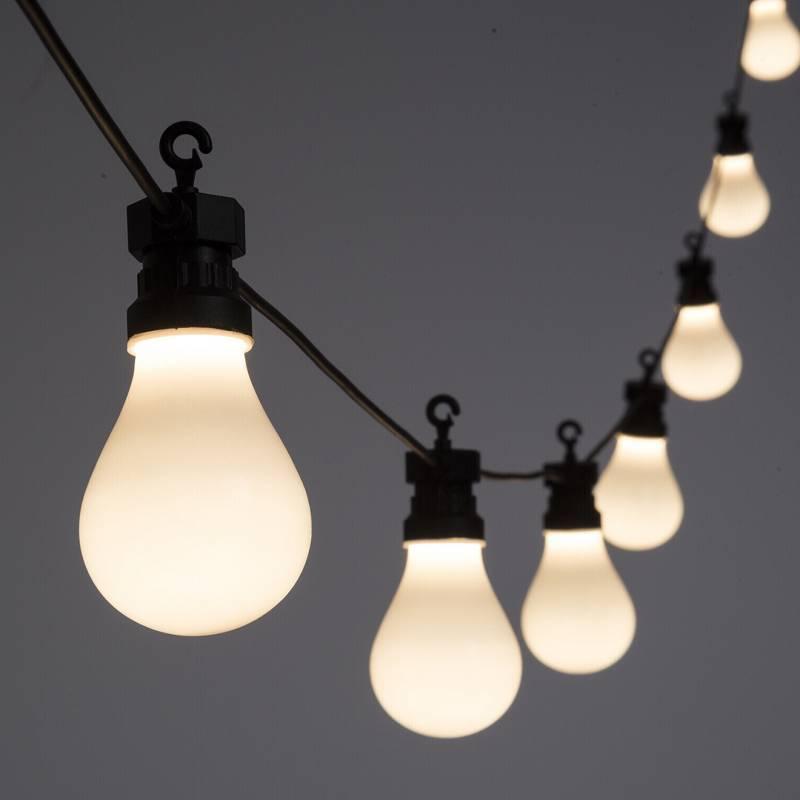 Guirlande Guinguette 5M 10 ampoules blanc chaud connectable 24V